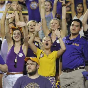 LSU Tigers Fans Ready To Cheer South Carolina Game